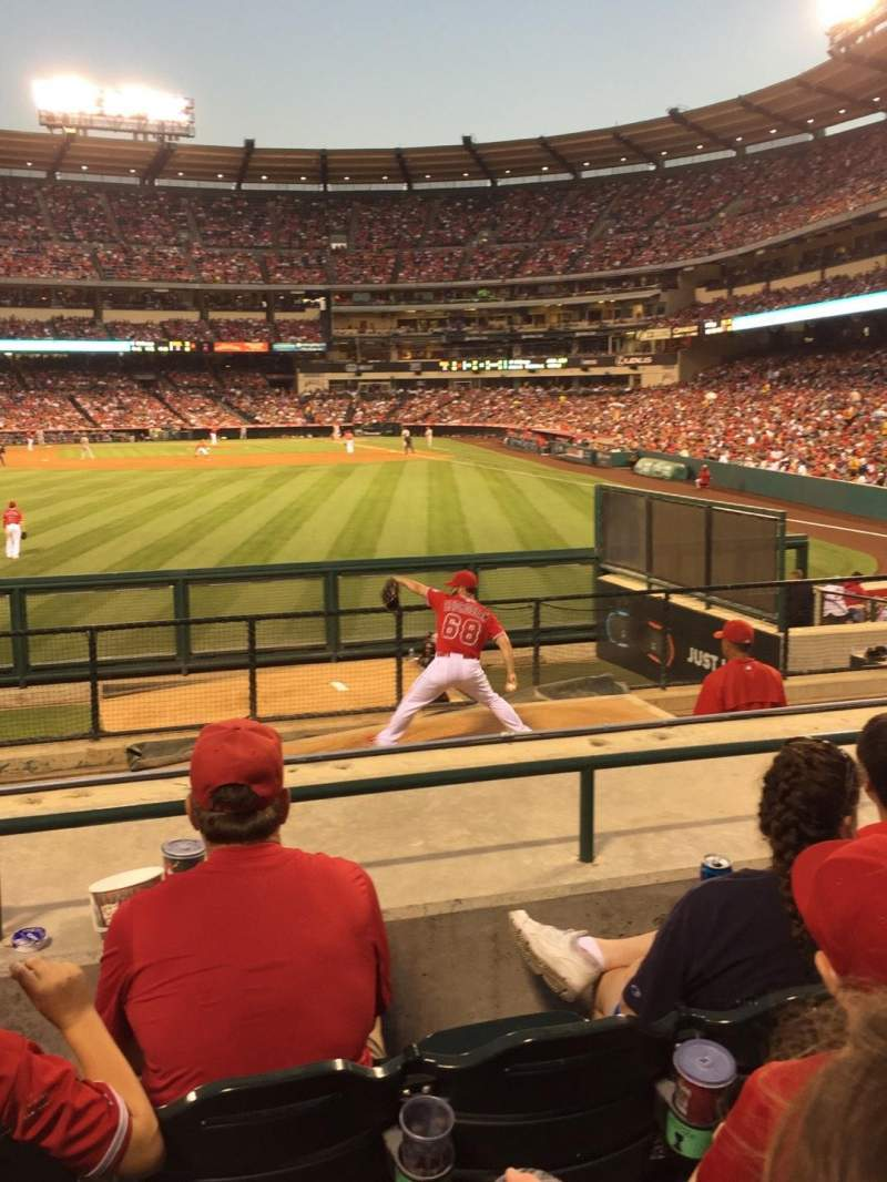 Seating view for Angel Stadium Section P258 Row F Seat 5