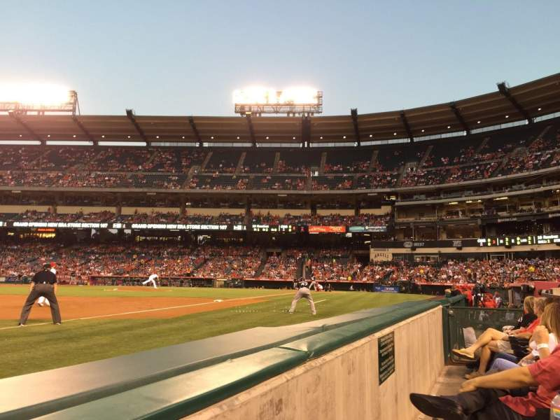 Seating view for Angel Stadium Section F109 Row AA Seat 5