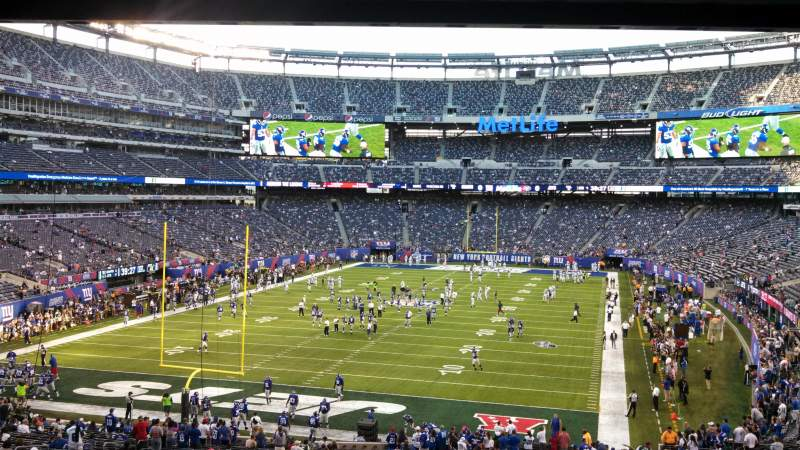 Seating view for MetLife Stadium Section 124 Row 45 Seat 5