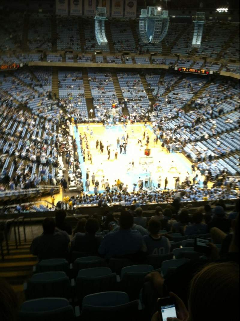 Seating view for Dean Dome Section 216 Row P Seat 14