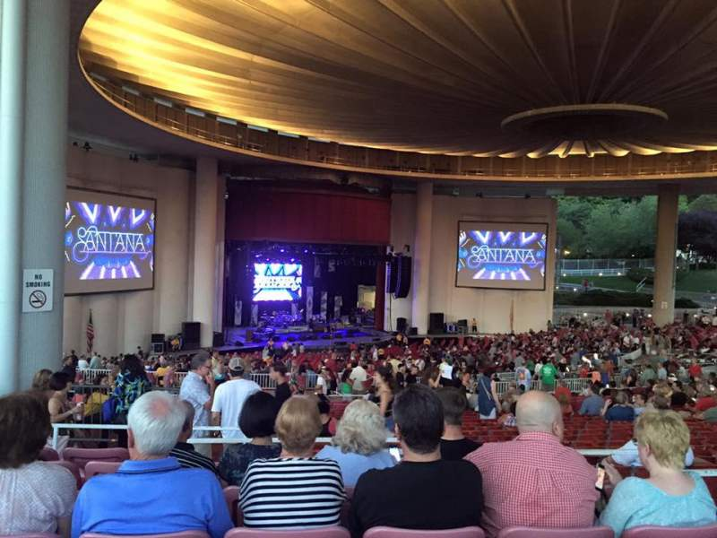Seating view for PNC Bank Arts Center Section 404 Row G