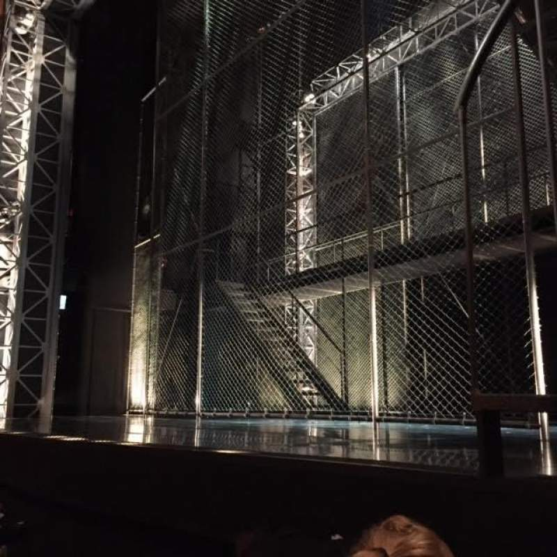 Seating view for August Wilson Theatre Section Orchestra, right Row B Seat 2, 4