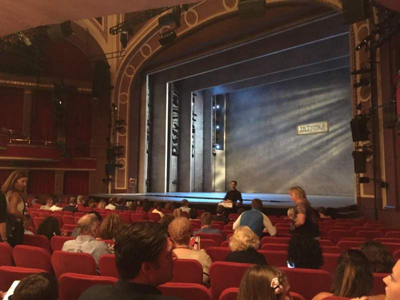 Seating view for Broadway Theatre - 53rd Street Section Orchestra Row Q Seat 27