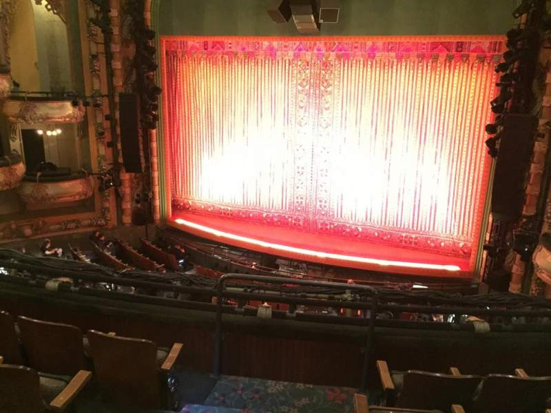 Seating view for New Amsterdam Theatre Section Mezz Row DD Seat 4