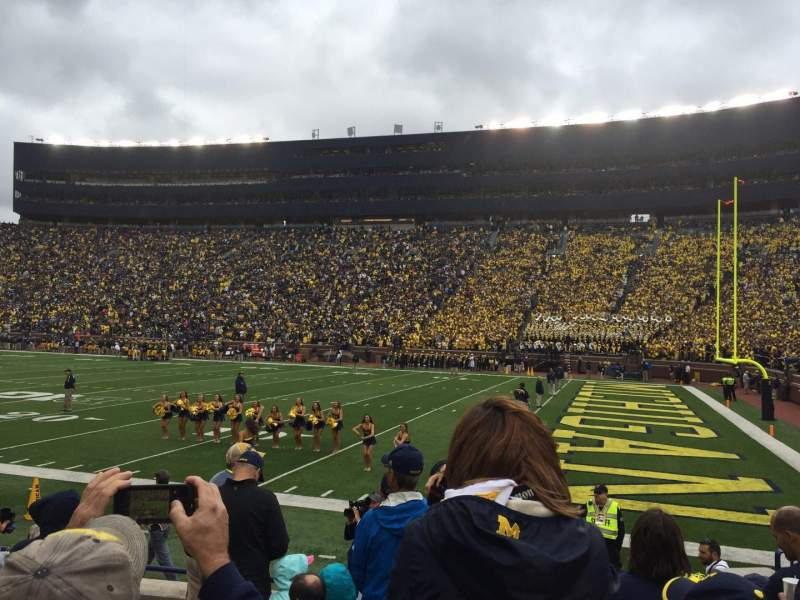 Seating view for Michigan Stadium Section 40 Row 6 Seat 10