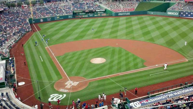 Seating view for Nationals Park Section 316 Row D Seat 7