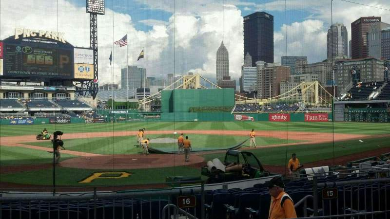 Seating view for PNC Park Section 115 Row D Seat 14