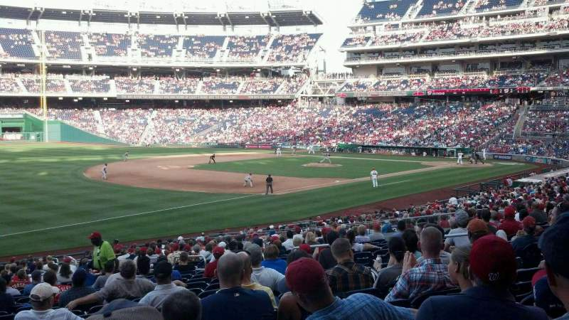 Seating view for Nationals Park Section 111 Row KK Seat 8