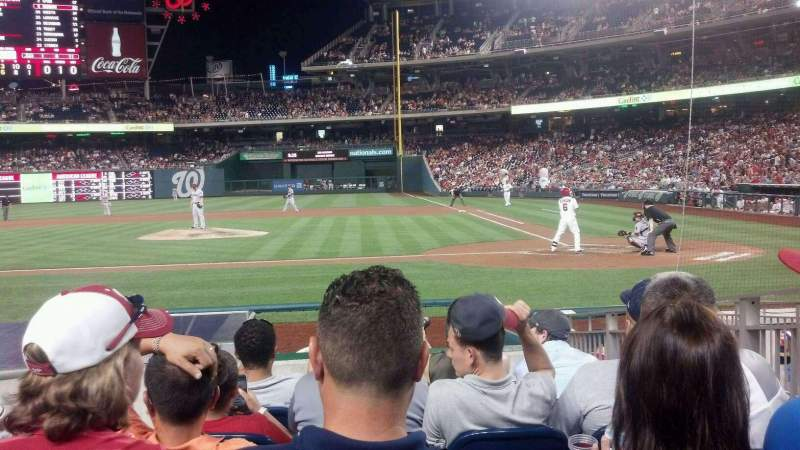 Seating view for Nationals Park Section 118 Row K Seat 7