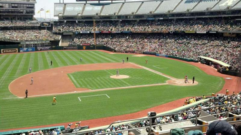 Seating view for Oakland Alameda Coliseum Section 223 Row 9 Seat 15