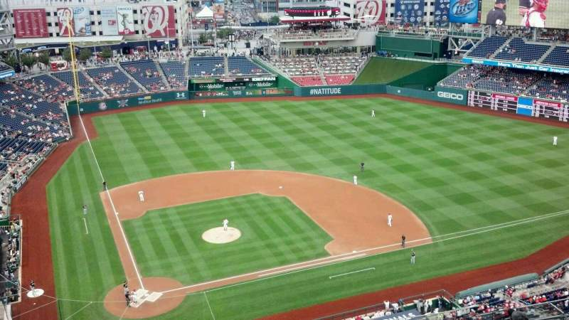 Seating view for Nationals Park Section 416 Row M Seat 8