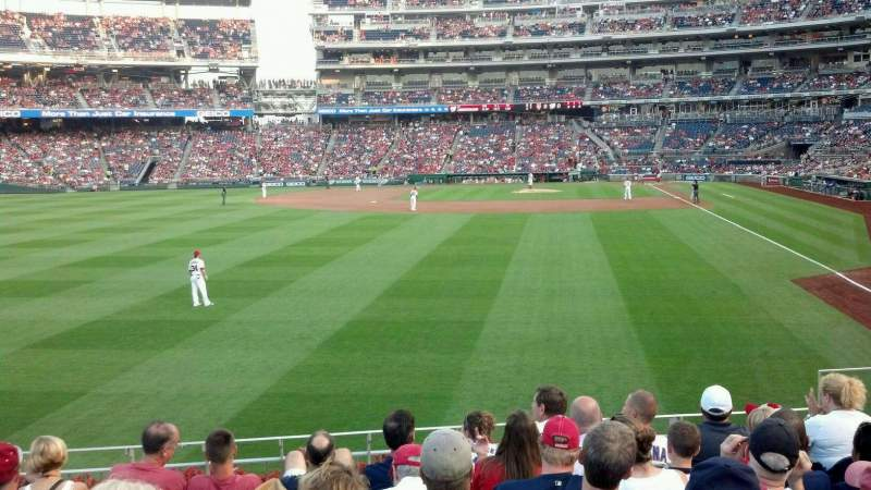 Seating view for Nationals Park Section 105 Row H Seat 8