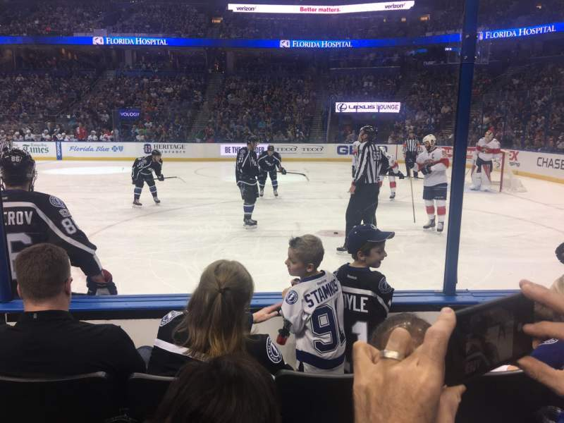 Seating view for Amalie Arena Section 114 Row D Seat 5