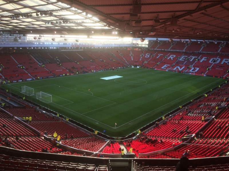 Seating view for Old Trafford Section NE Row TT Seat 150