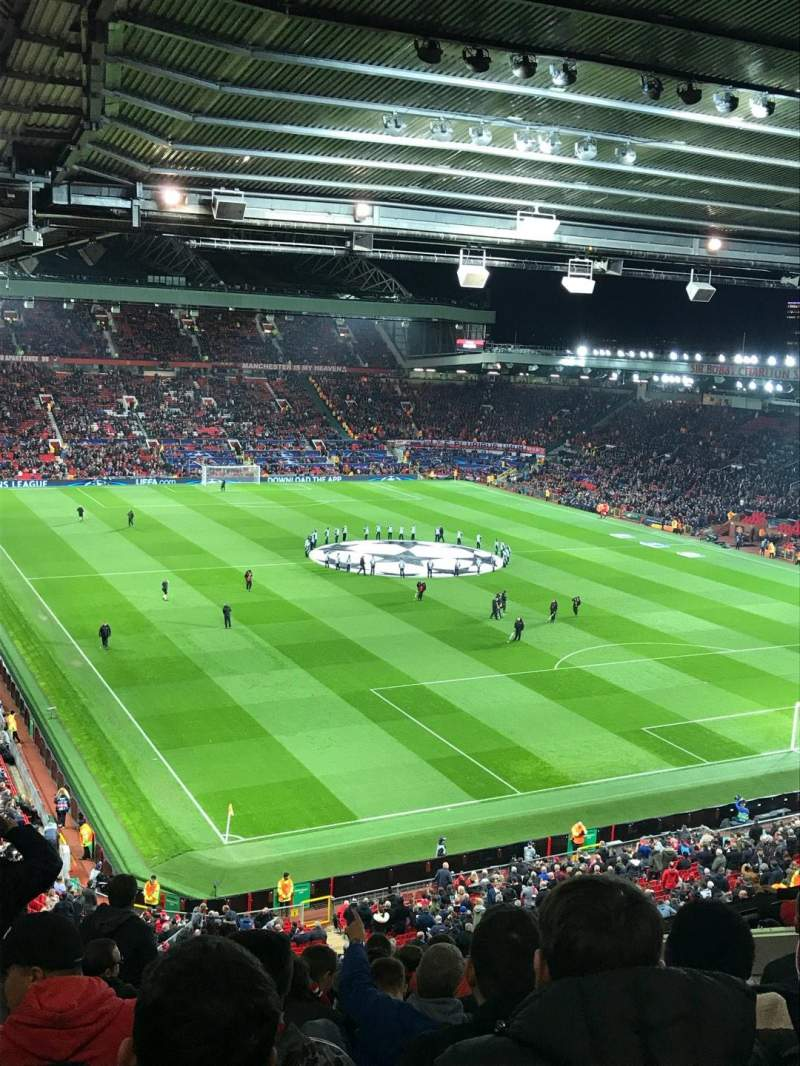 Seating view for Old Trafford Section Nw Row HH Seat 7