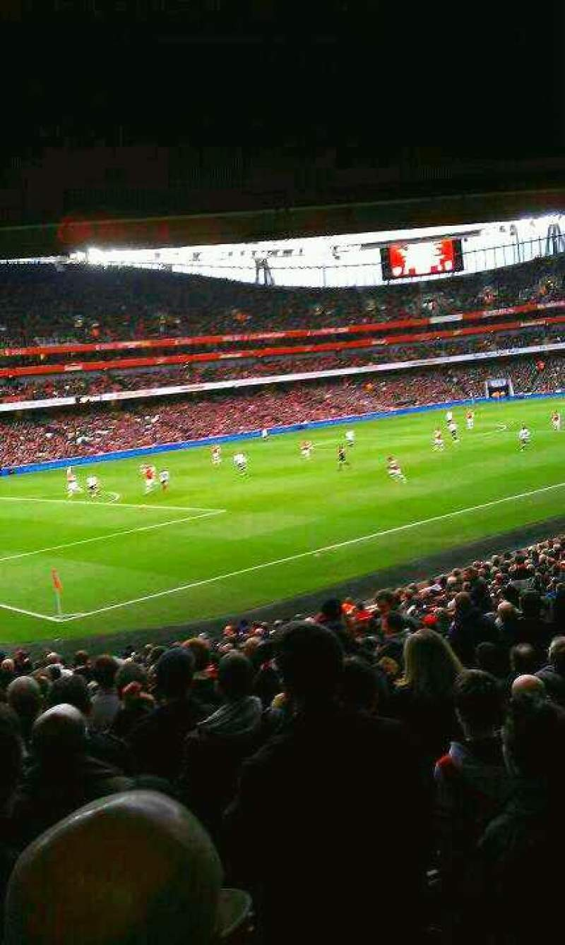 Seating view for Emirates Stadium Section 120 Row 12  Seat 7