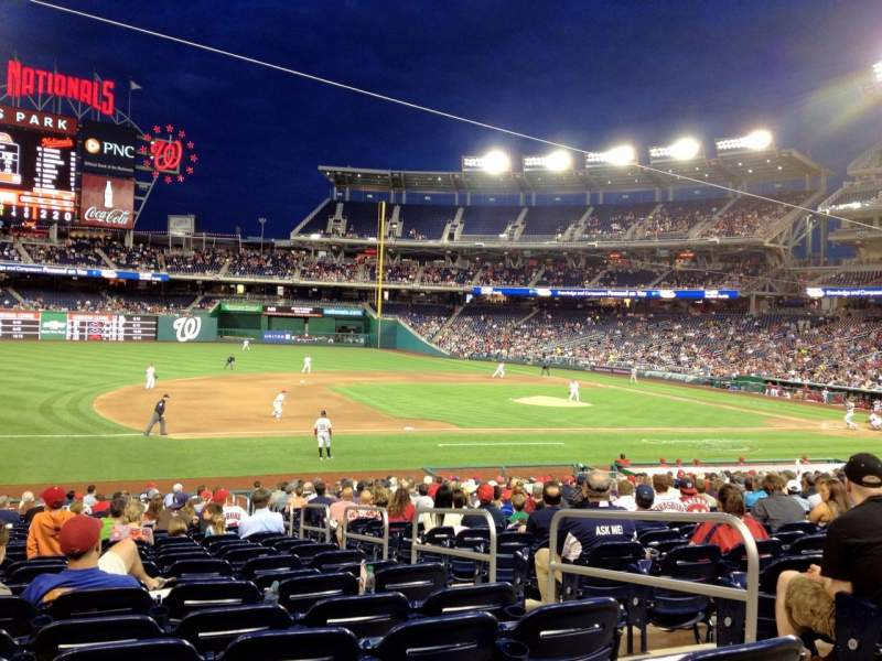 Seating view for Nationals Park Section 114 Row EE Seat 4