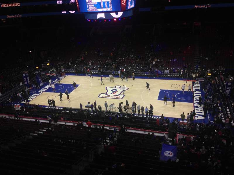 Seating view for Wells Fargo Center Section 202 Row 1 Seat 4