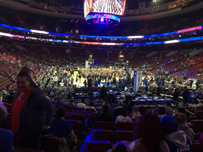 Seating view for Wells Fargo Center Section 118 Row 13 Seat 3