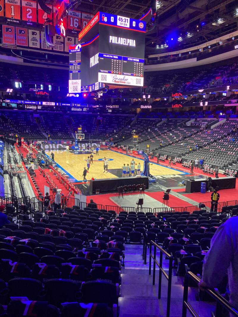 Seating view for Wells Fargo Center Section 106 Row 18 Seat 1