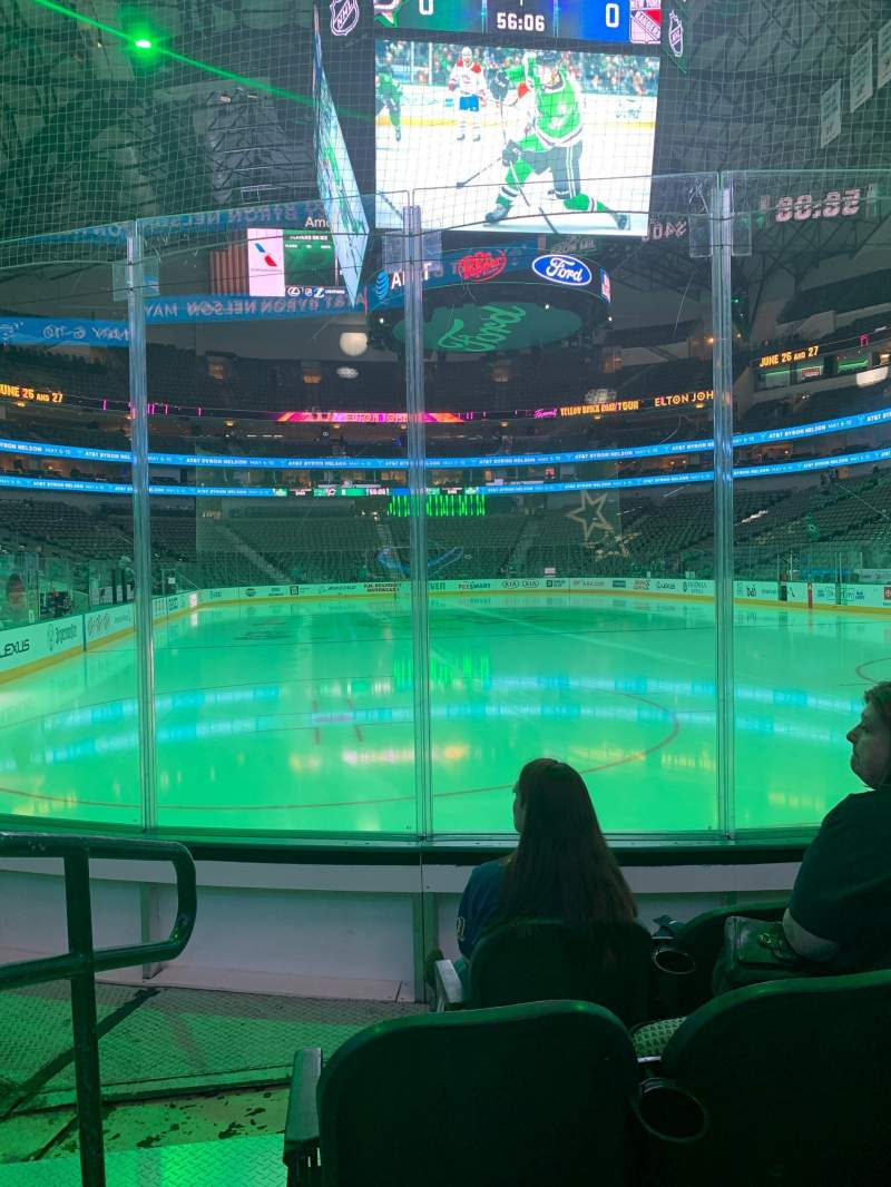 Seating view for American Airlines Center Section 113 Row C Seat 1