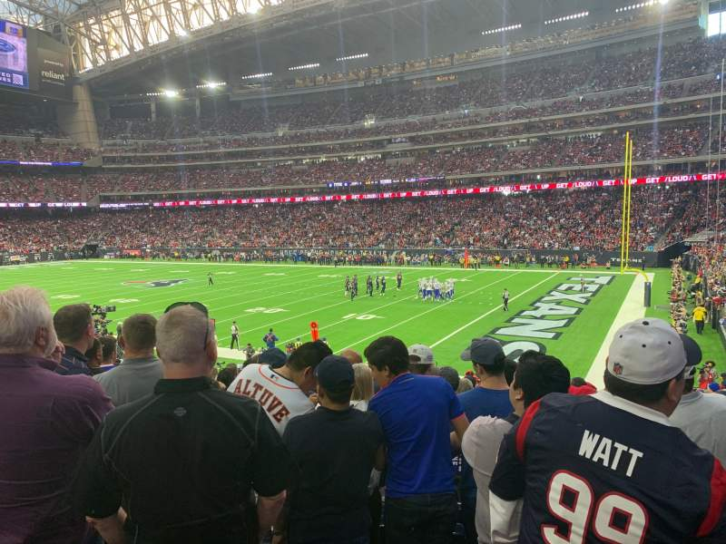 Seating view for NRG Stadium Section 122 Row X Seat 1
