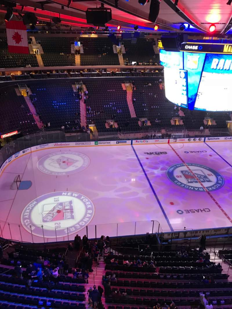 Seating view for Madison Square Garden Section 312 Row 1 Seat 1