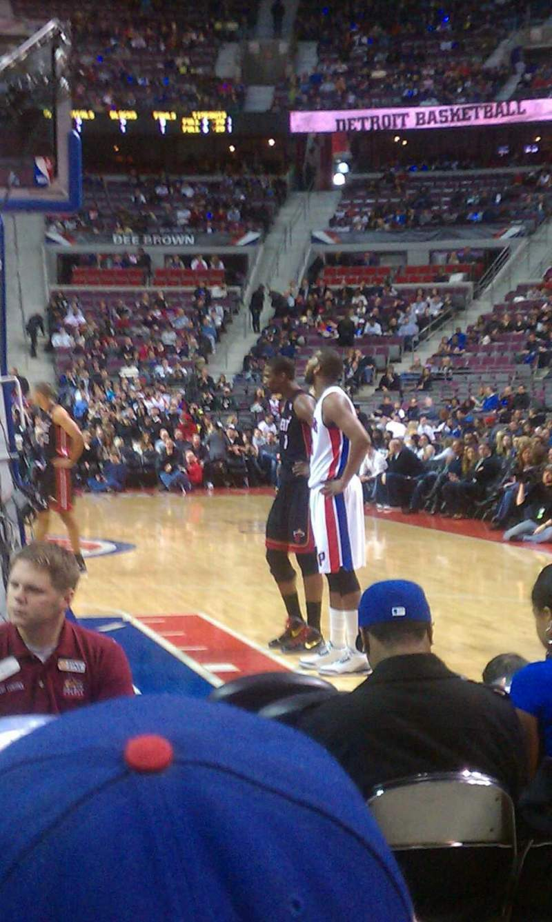 Seating view for The Palace of Auburn Hills Section 120a