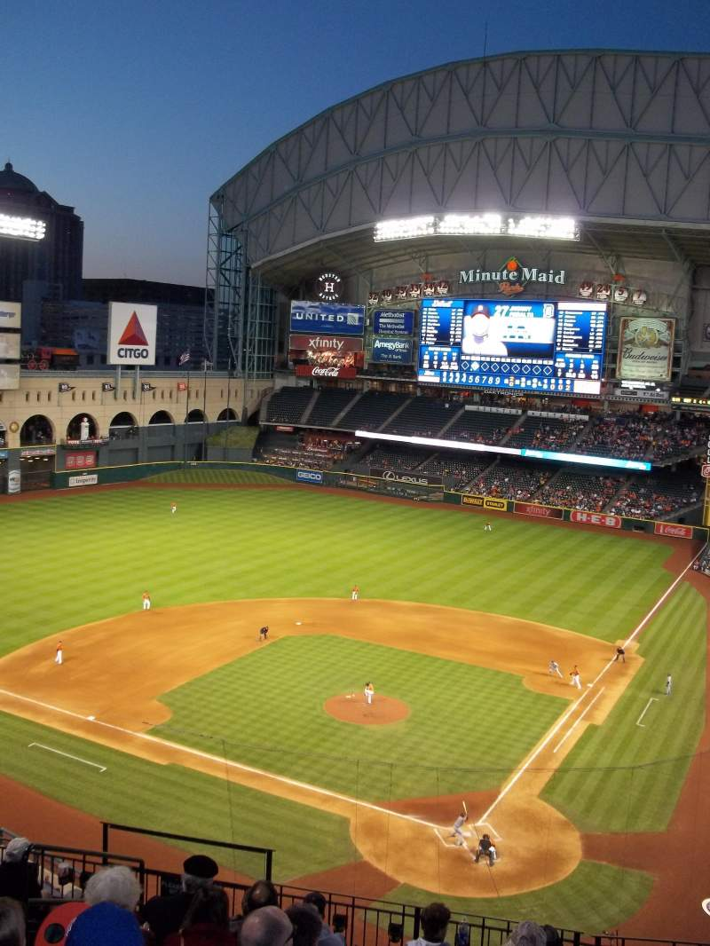 Seating view for Minute Maid Park Section 317 Row 9 Seat 1