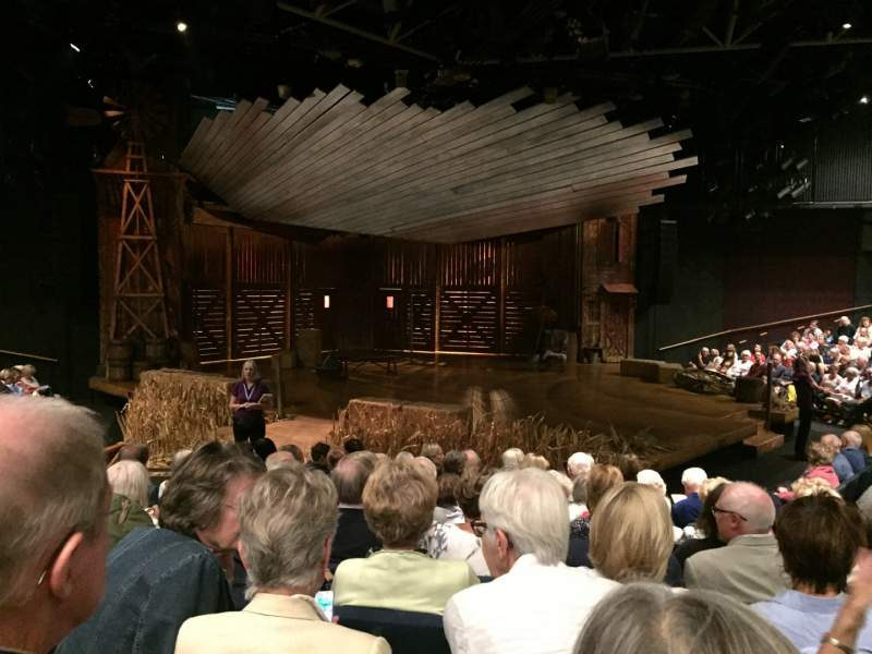 Seating view for Chichester Festival Theatre Section Door 2 Row K Seat 49