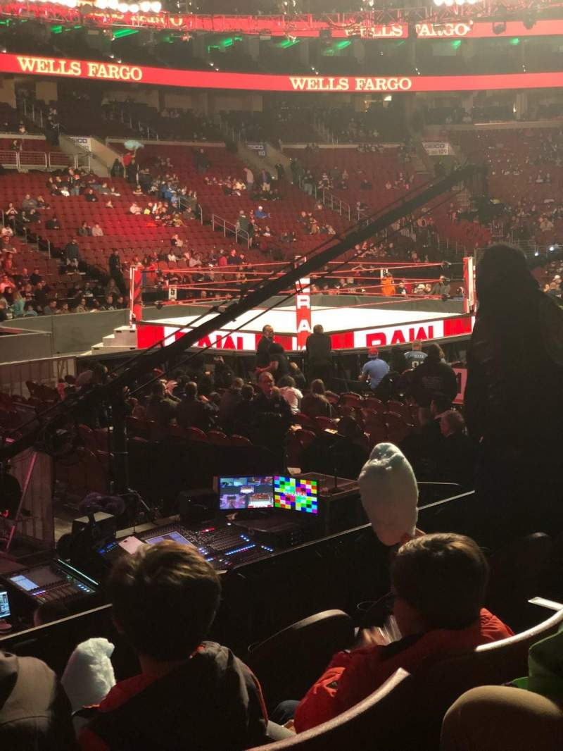 Seating view for Wells Fargo Center Section 123 Row 9