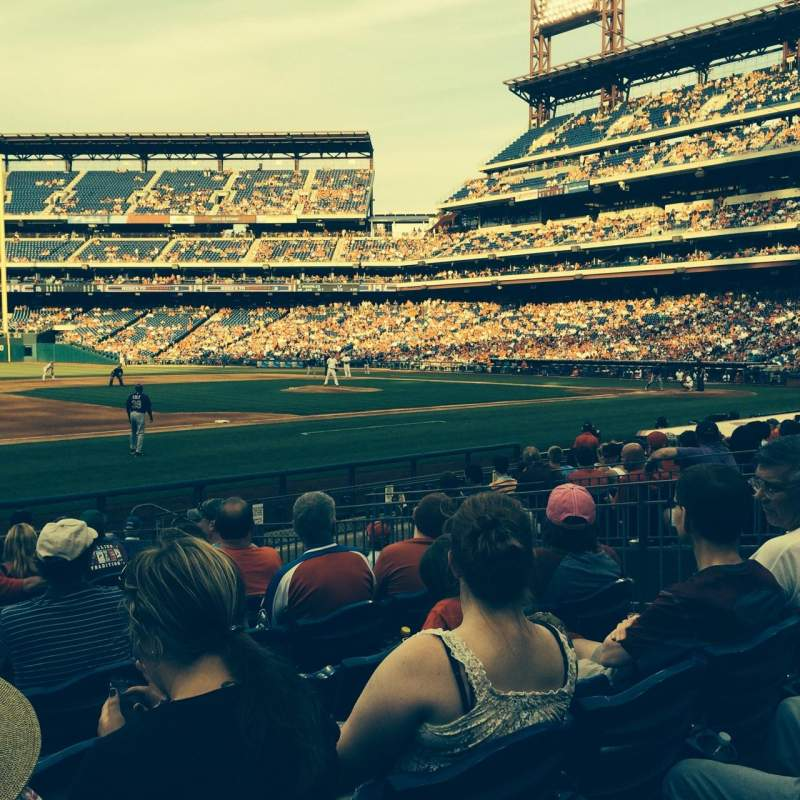 Seating view for Citizens Bank Park Section 133 Row 13 Seat 7