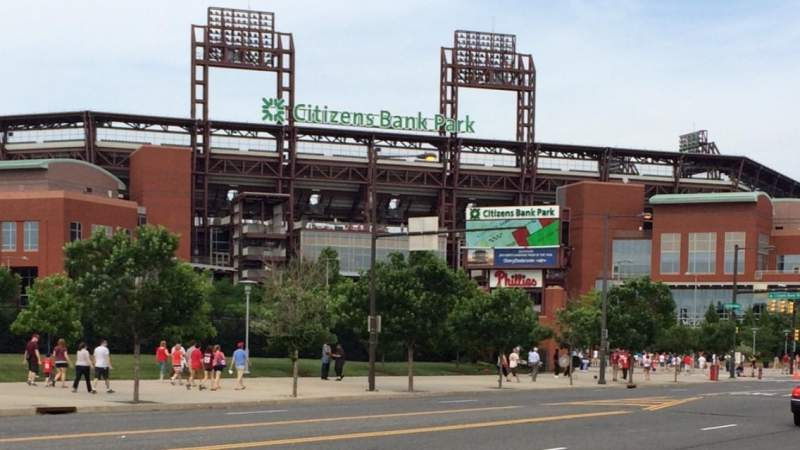 Seating view for Citizens Bank Park Section Front Row Of  Seat Park