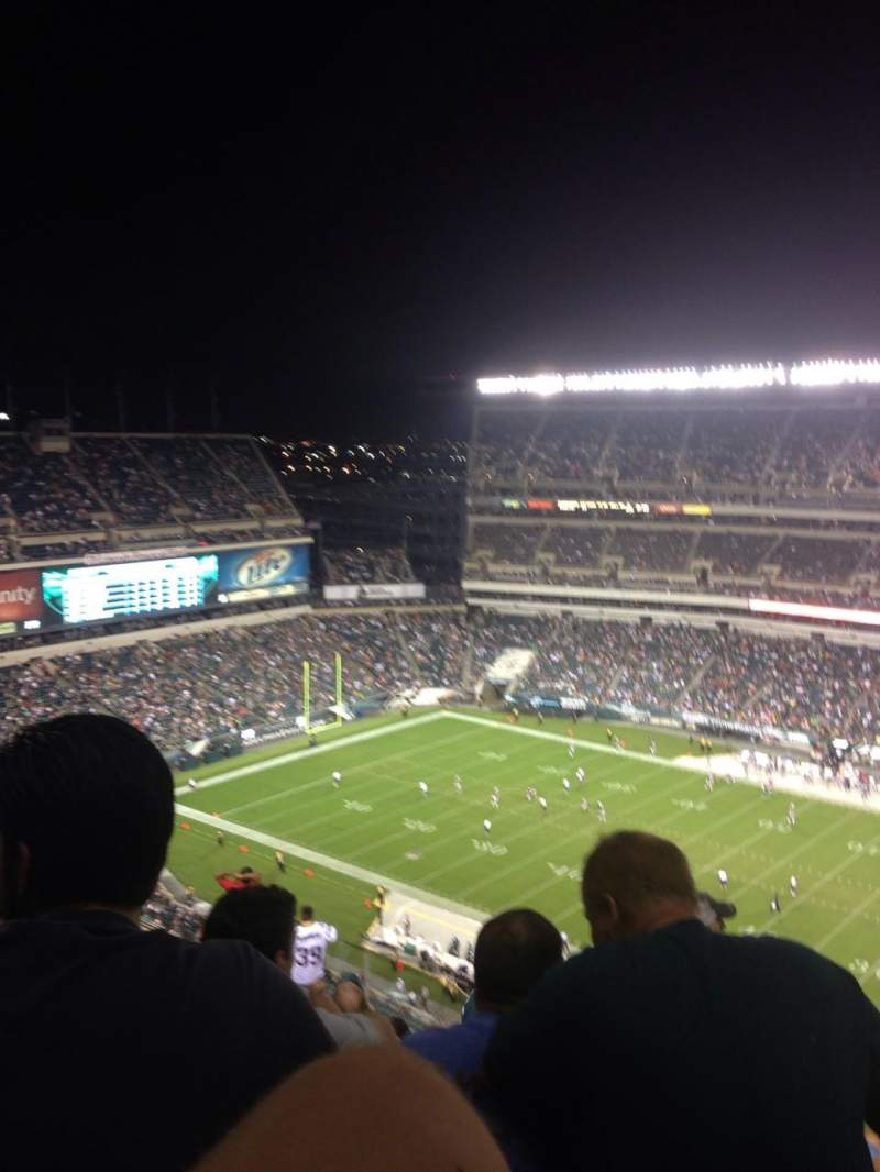 Seating view for Lincoln Financial Field Section 204 Row 19 Seat 18