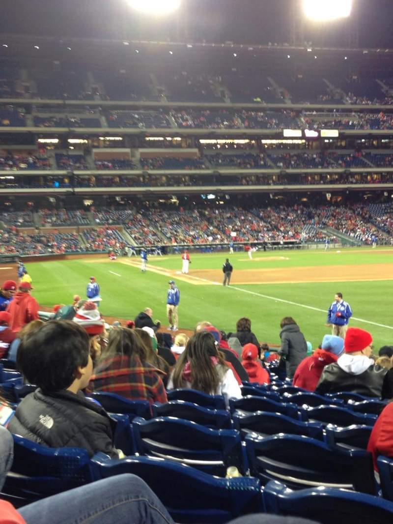 Seating view for Citizens Bank Park Section 109 Row 19 Seat 9