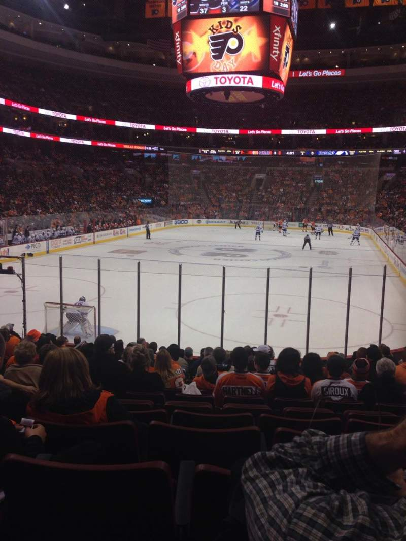 Seating view for Wells Fargo Center Section 108 Row 15 Seat 12