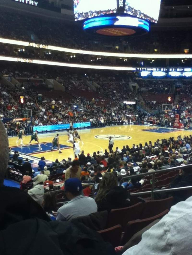 Seating view for Wells Fargo Center Section 110 Row 17 Seat 14