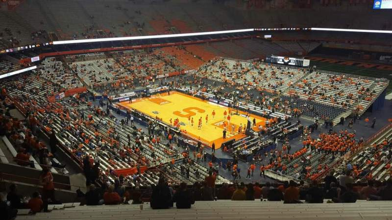 Seating view for Carrier Dome Section 307 Row s Seat 109