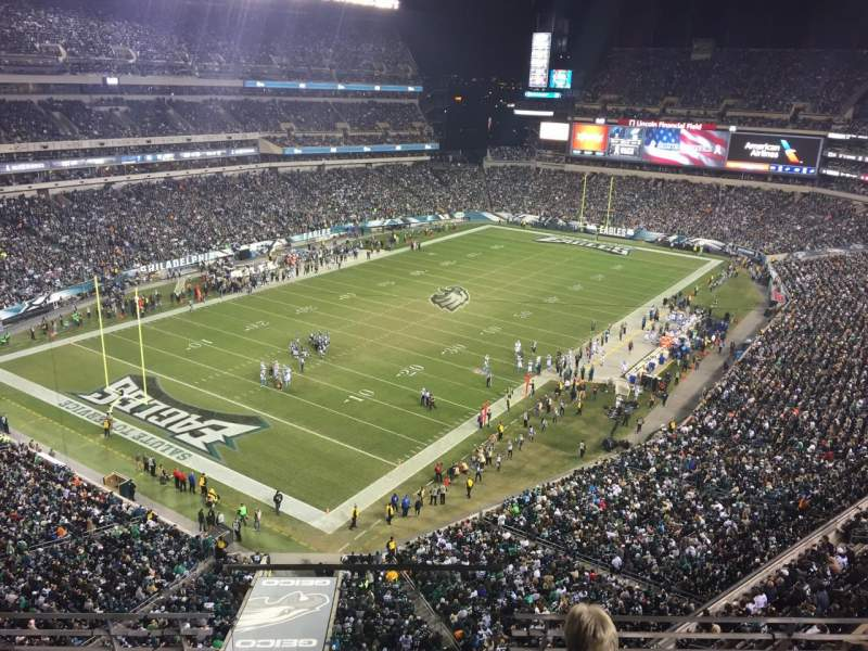 Seating view for Lincoln Financial Field Section 218 Row 4 Seat 20