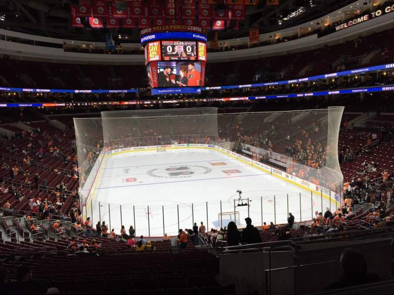 Seating view for Wells Fargo Center Section cc118 Row 2 Seat 21