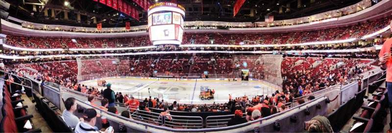 Seating view for Wells Fargo Center Section Club Box 14 Row 3 Seat 10