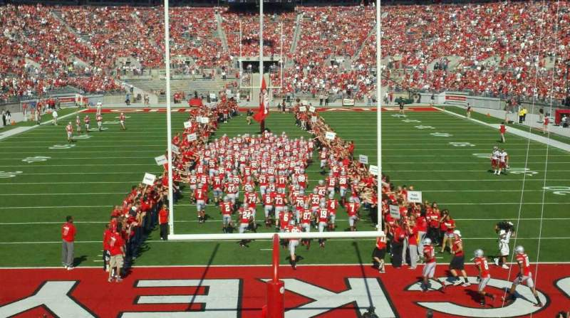Seating view for Ohio Stadium Section block o Seat 1