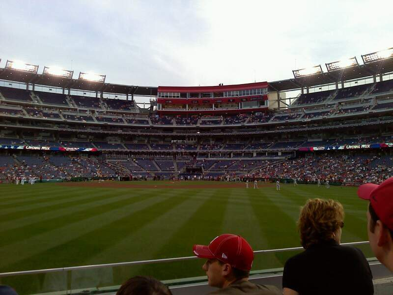 Seating view for Nationals Park Section Red porch Row 2