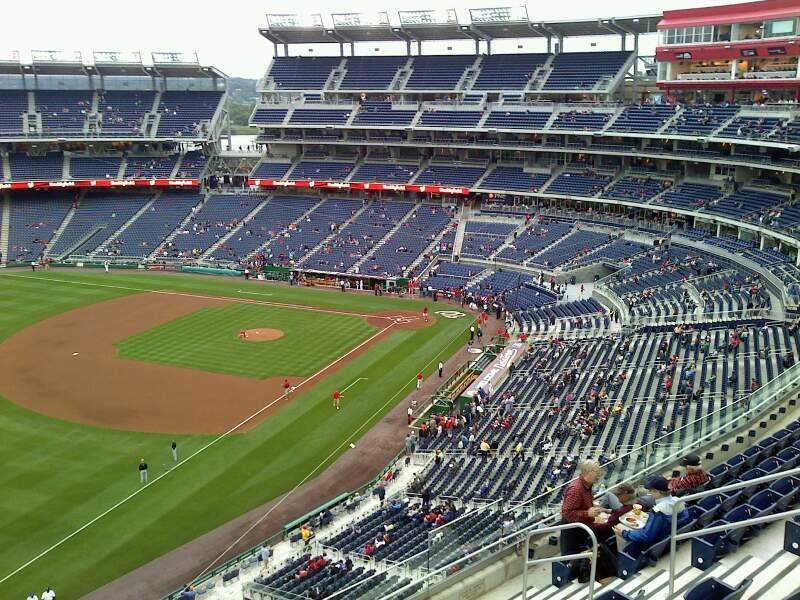 Seating view for Nationals Park Section 403 Row D Seat 4