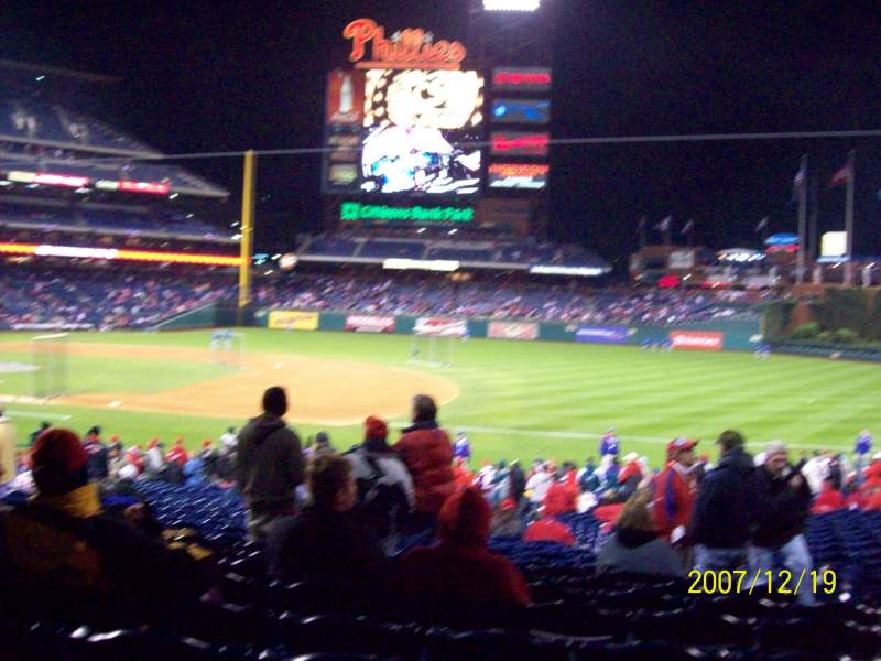 Seating view for Citizens Bank Park Section 114 Row 30 Seat 5