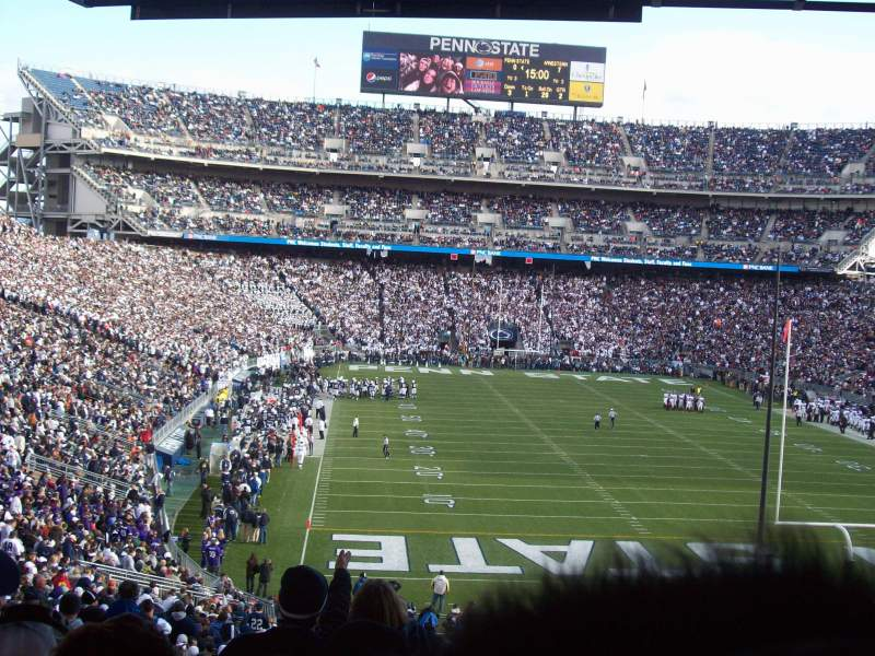 Seating view for Beaver Stadium Section NH Row 55