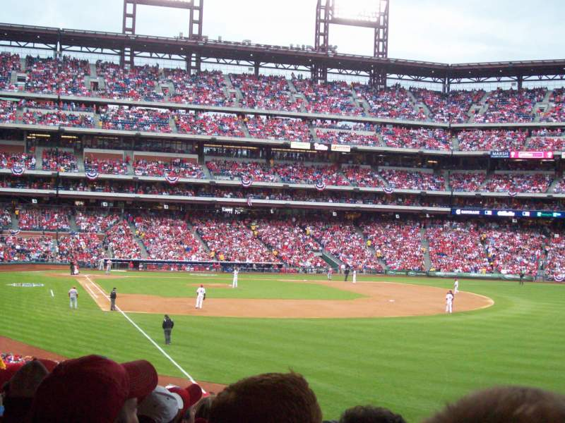 Seating view for Citizens Bank Park Section 107 Row 17