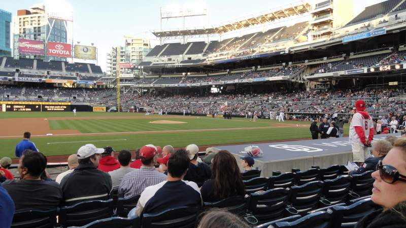 Seating view for Petco Park Section 110 Row 12 Seat 10
