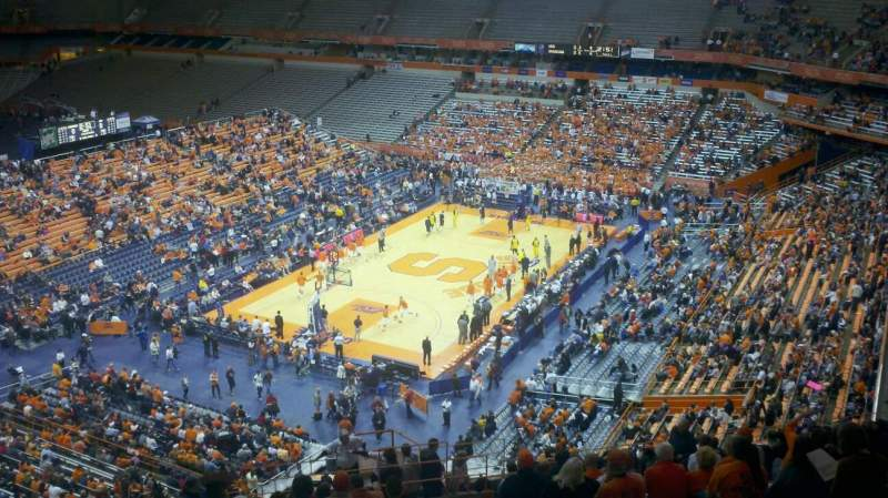 Seating view for Carrier Dome Section 314 Row V Seat 3