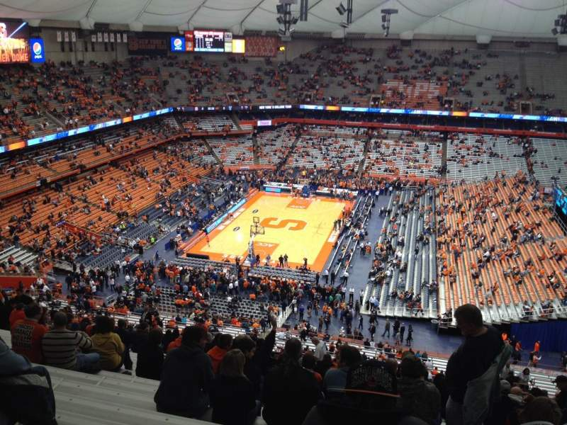 Seating view for Carrier Dome Section 301 Row ZZ Seat 10